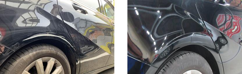 ルセデスベンツの擦り傷を塗装修理